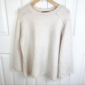 ZARA BASIC S Chunky Ivory Knit Sweater